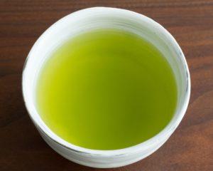 a cup of green sencha