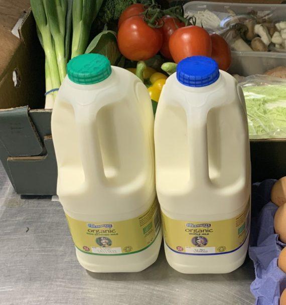 semi skimmed organic milk