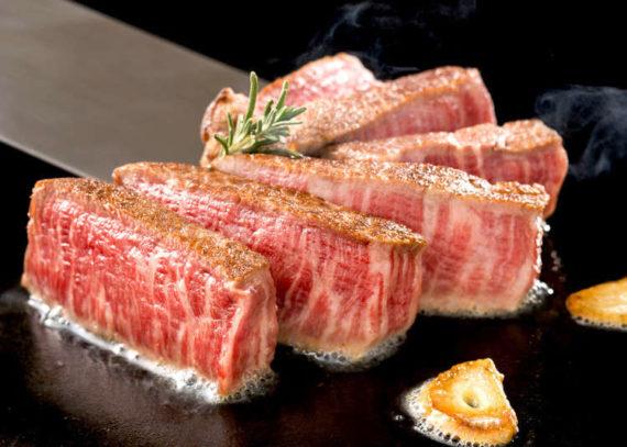 Wagyu beef steak in grill